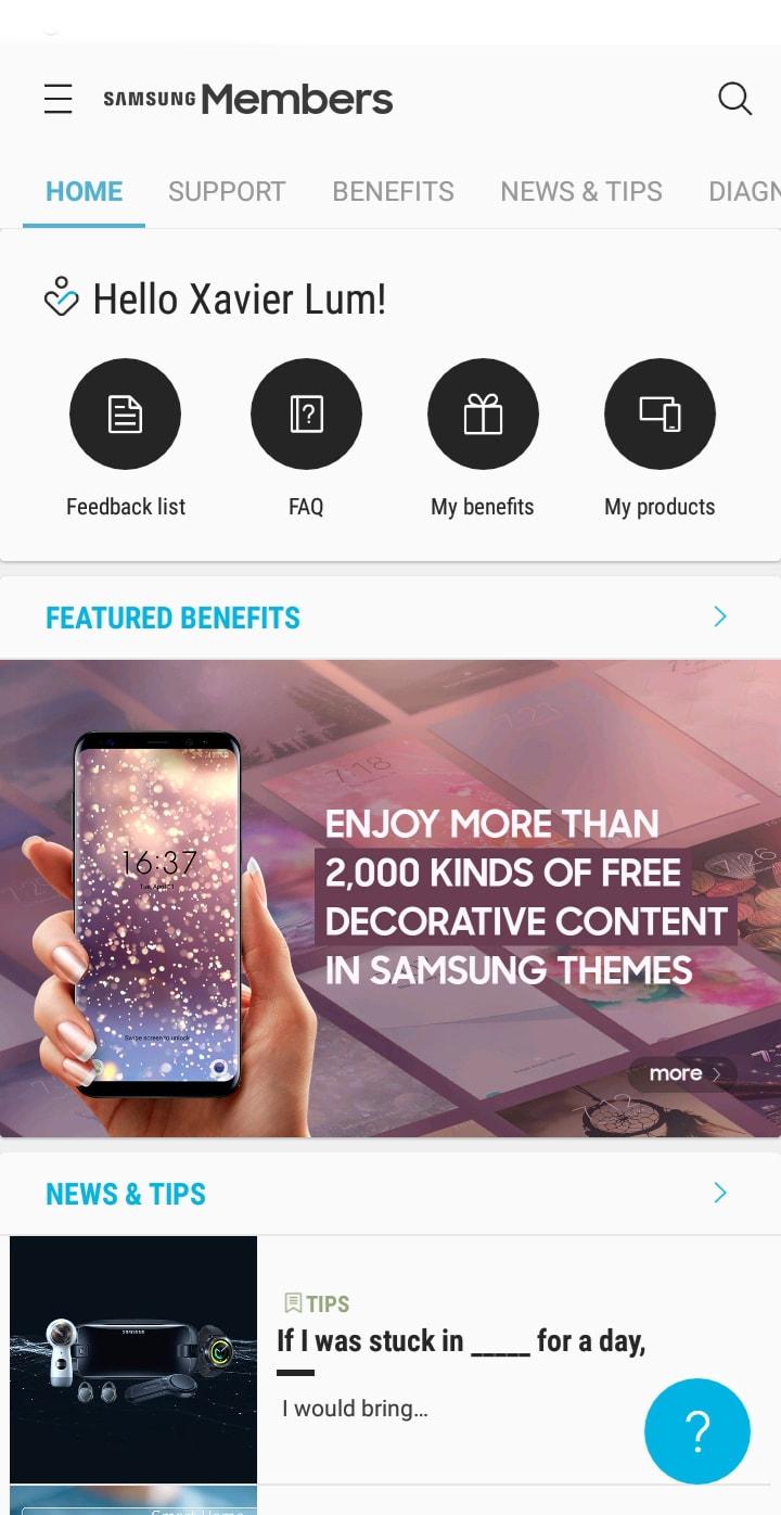 Samsung Members Apps - Xavier Lum
